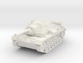 SU-76 i 1/76 in White Natural Versatile Plastic
