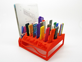 The Wave Hub - Material Sample Stand in Red Processed Versatile Plastic