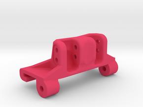 Capra rear axle link mount riser in Pink Processed Versatile Plastic