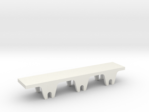 jenny lind tender chassis in White Natural Versatile Plastic