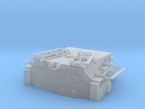 1/350 Bismarck Aft Double Hangar in Smooth Fine Detail Plastic
