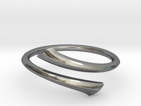 Streamline Open Ring - Hard Edge in Antique Silver: 8 / 56.75