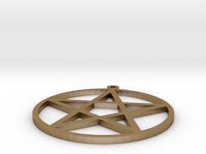 pentagram pendant in Polished Gold Steel