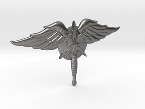 6 inch USAF Special Warfare emblem in Polished Nickel Steel