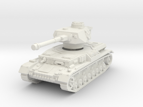 Panzer IV G 1/72 in White Natural Versatile Plastic