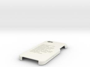 Final Iphone Case Design in White Natural Versatile Plastic