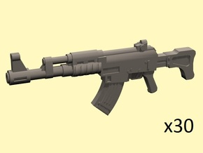 28mm SciFi AK style assault rifles in Smoothest Fine Detail Plastic