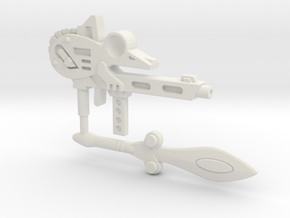Battle Beast Mouse Weapons (3mm, 4mm, 5mm) in White Natural Versatile Plastic: Small
