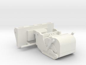 1/64th Skid Steer Cold Planer Asphalt Reclaimer  in White Natural Versatile Plastic