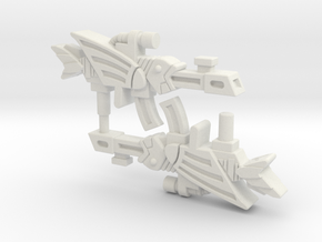 Battle Beast Fly Sailor (Fish) Gun (3mm, 4mm, 5mm) in White Natural Versatile Plastic: Small