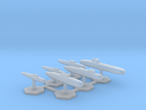 7000 Scale Frax Fleet Submarine Collection MGL in Smooth Fine Detail Plastic