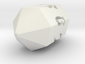 Crystal d7 in White Natural Versatile Plastic