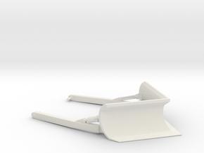 1/64th V Fire Forestry Blade for Dozer in White Natural Versatile Plastic