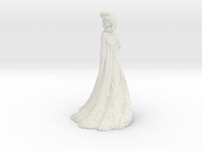 Elsa frozen princess in White Natural Versatile Plastic