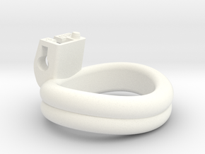 Cherry Keeper Ring - 43x38mm Double -3° (~40.5mm) in White Processed Versatile Plastic