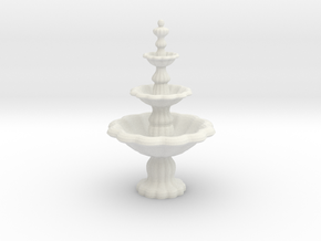 Fountain in White Natural Versatile Plastic: 1:48 - O