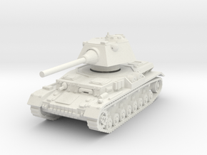 Panzer IV S 1/56 in White Natural Versatile Plastic