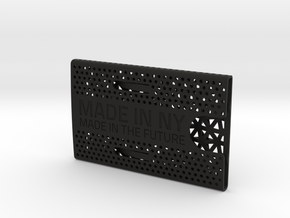 Business card case -Made in NY, Made in the Future in Black Natural Versatile Plastic