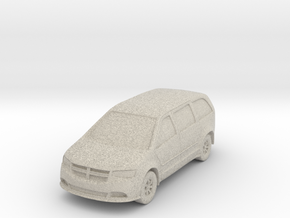 "Minivan at 1""=8' Scale in Natural Sandstone"
