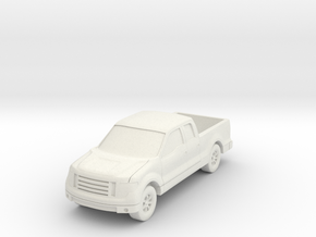 """Truck at 1""""=8' Scale in White Natural Versatile Plastic"""