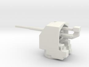 1/160 QF 4.5-inch anti-aircraft gun in White Natural Versatile Plastic