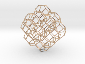 Truncated octahedral lattice in 14k Rose Gold