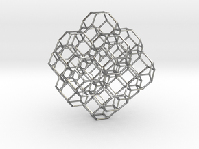 Truncated octahedral lattice in Natural Silver