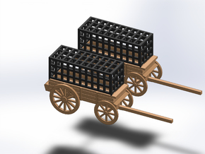 N TWO PRISON WAGON in Smooth Fine Detail Plastic