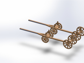 N TWO LUMBER WAGON in Smooth Fine Detail Plastic