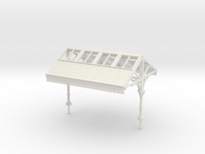 Platform Canopy Section 1 - 4mm Scale in White Natural Versatile Plastic