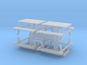 Park Picnic Bench (x4) 1/76 in Smooth Fine Detail Plastic