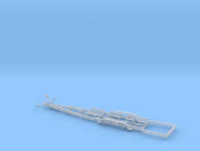1/87 Myco Trailer 3-axle trailer for Yachts & Spee in Smooth Fine Detail Plastic: 1:87 - HO