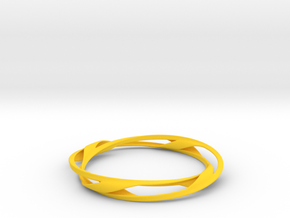 Barred Twist Bangle in Yellow Strong & Flexible Polished