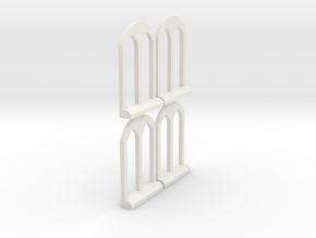 Thomas the Tank Engine Rounded Window 1 in White Natural Versatile Plastic: 1:76 - OO