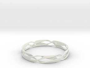 Stripes Bangle 2 in White Strong & Flexible