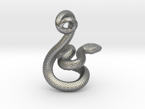 Snake Pendant_P04 in Natural Silver
