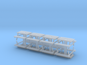 Park Picnic Bench (x8) 1/120 in Smooth Fine Detail Plastic