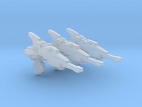 Eldar Navy Hellebore frigate 3 models/fleet scale in Smooth Fine Detail Plastic