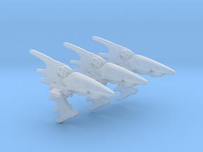 Eldar Navy Aconite frigate 3 models/fleet scale in Smooth Fine Detail Plastic