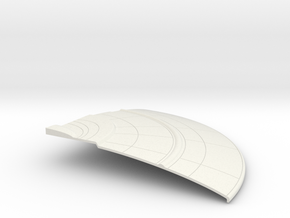 1/1400 Orion Class Left Front Upper Saucer in White Natural Versatile Plastic