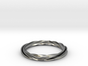 Twist and Flip Bangle in Natural Silver