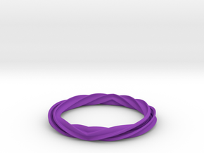 Twist and Flip Bangle in Purple Strong & Flexible Polished