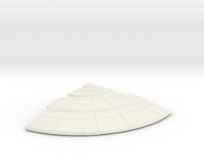1/1400 Orion Class Right Front Upper Saucer in White Natural Versatile Plastic