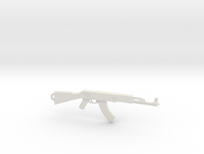 AK Pendant in White Natural Versatile Plastic