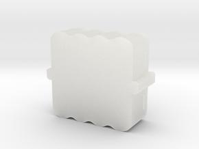MysteryObjBoxBottom005 in Smooth Fine Detail Plastic