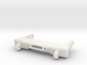 V1W: Front Comp Bumper 70mm in White Natural Versatile Plastic