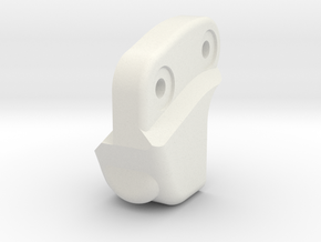 V1W: Pan Hard Mount Single in White Natural Versatile Plastic