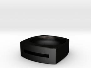 Slot Ring in Matte Black Steel: 10 / 61.5