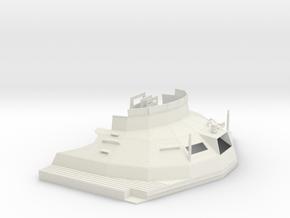 1/24 DKM Schnellboot S100 Skull Cap Bridge in White Natural Versatile Plastic