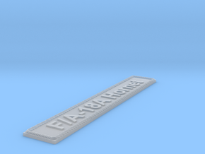 Nameplate F/A-18A Hornet in Smoothest Fine Detail Plastic
